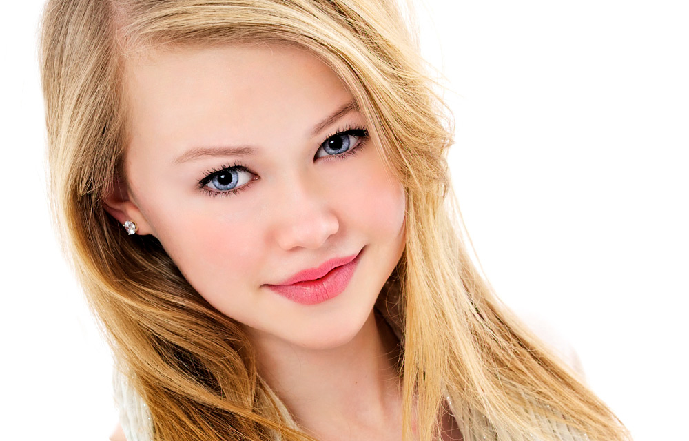 young girl with blonde hair