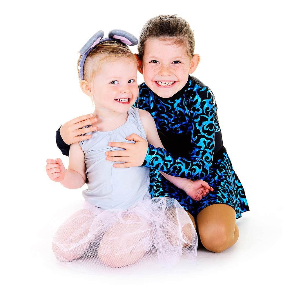 young dancer sisters portrait