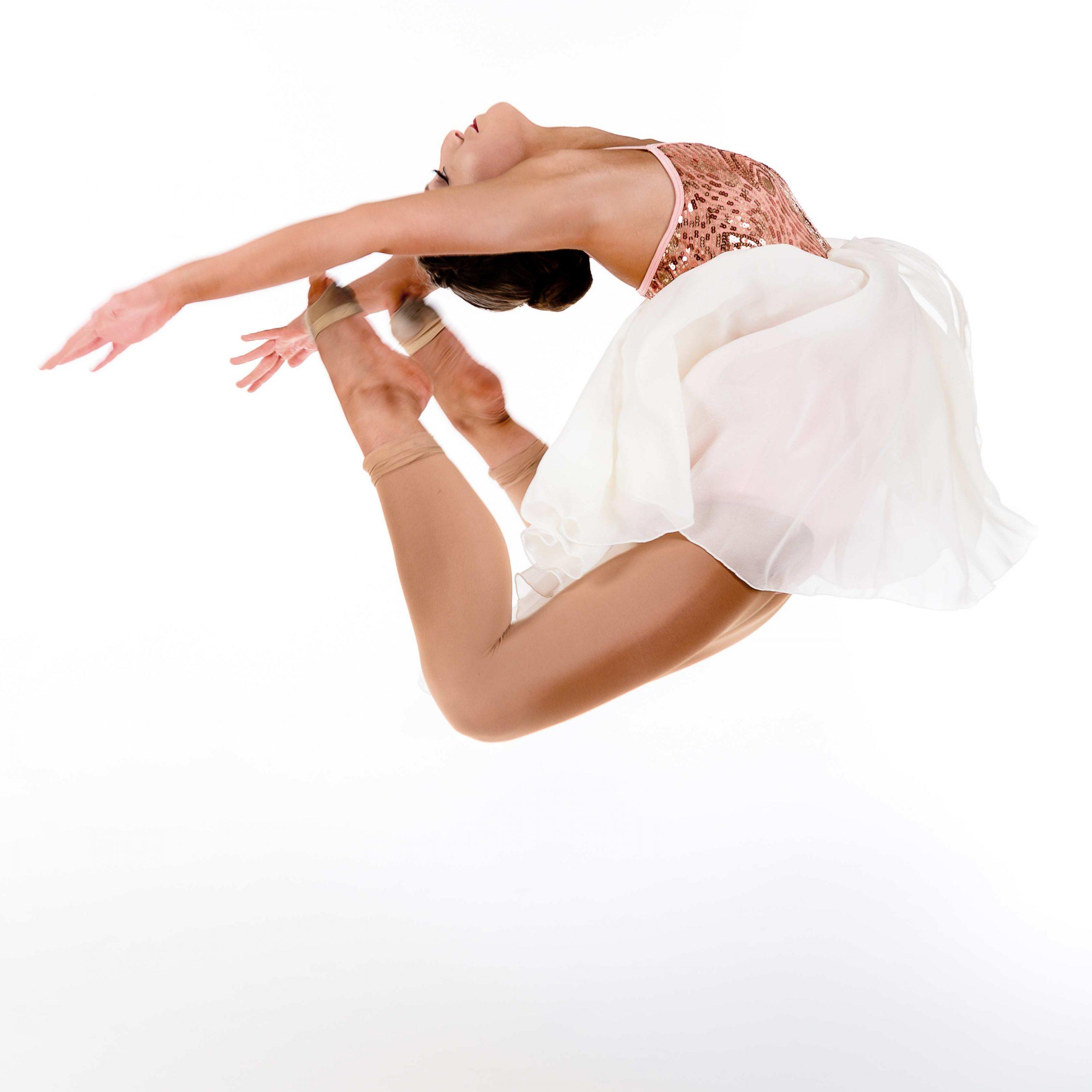 dancer in mid air