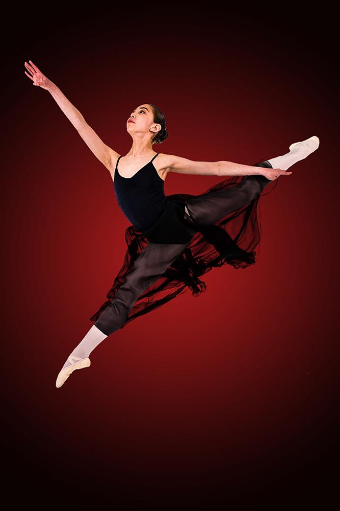 dancer in black romantic tutu