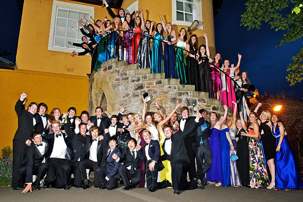 group photo at school prom