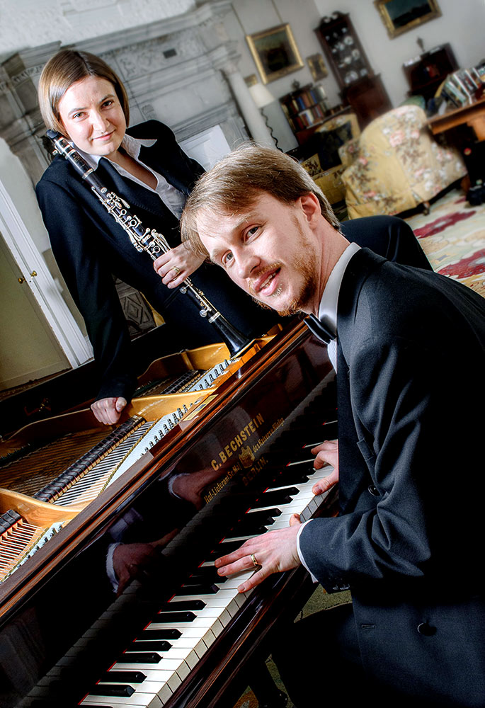 musicians with piano and clarinet