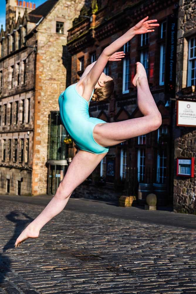 Dance photo shoot Edinburgh Old Town